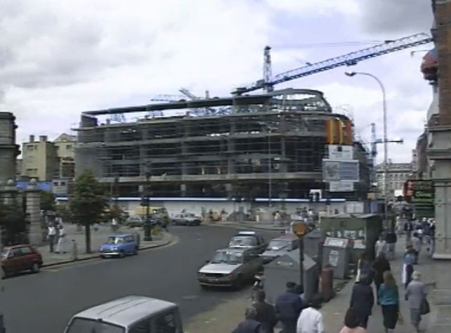 St Stephen's Green Shopping Centre Under Construction (1987)