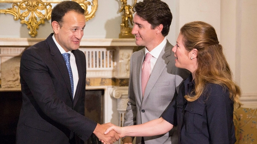 The Taoiseach meets Mr Trudeau's wife Sophie