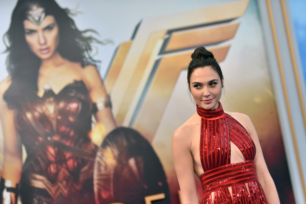 Gal Gadot attends the premiere of  'Wonder Woman'