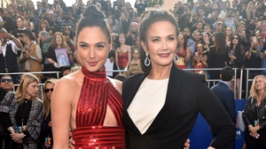 Gal Gadot and Lynda Carter attend the premiere of 'Wonder Woman'
