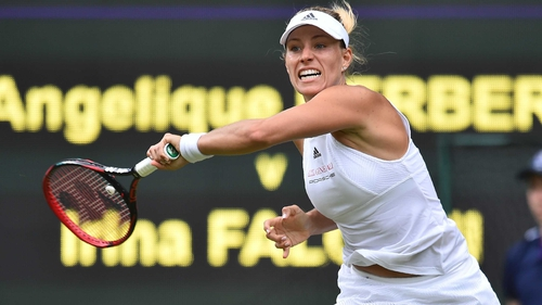 Kerber, Raonic advance in straight sets at Wimbledon
