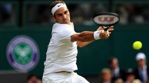 Roger Federer registered 10 aces in just six service games