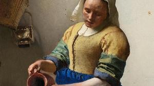 Detail from Vermeer's The Milkmaid (c. 1657-1658)