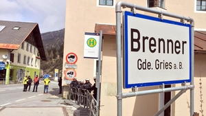 Austrian police pictured at the Brenner Pass border crossing point in May 2016