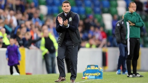 Linfield boss David Healy will get the chance to pit his wits against Celtic manager Brendan Rodgers