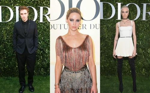 Robert Pattinson, Jennifer Lawrence and Cara Delevigne celebrate 70 years of Dior.