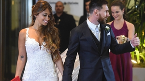 Messi on his wedding day