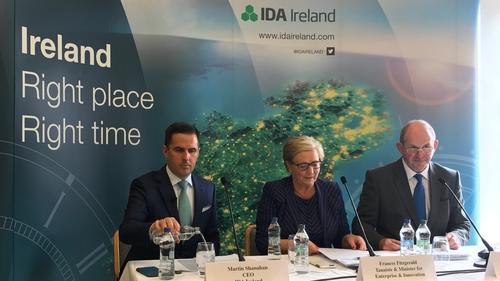 IDA CEO Martin Shanahan, Enterprise and Innovation Minister Frances Fitzgerald and IDA chairman Frank Ryan