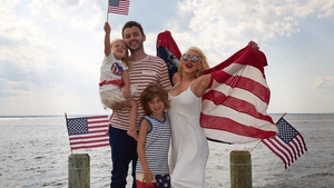 Christina Aguilera rings in the 4th of July with family - image via Instagram
