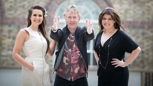 Fleadh TV presenters Máiréad Ní Chuaig, Hector Ó hEochagáin agus Lynette Fay