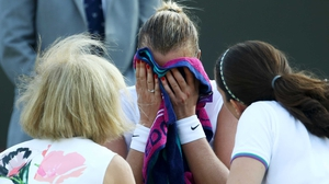 Petra Kvitova fell at the second hurdle