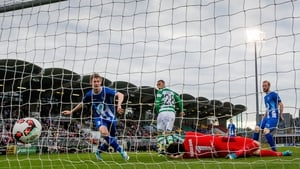 Graham Burke puts Shamrock Rovers 1-0 up against Stjarnan tonight