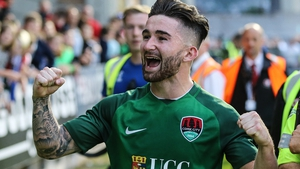 Sean Maguire celebrates Cork's progression