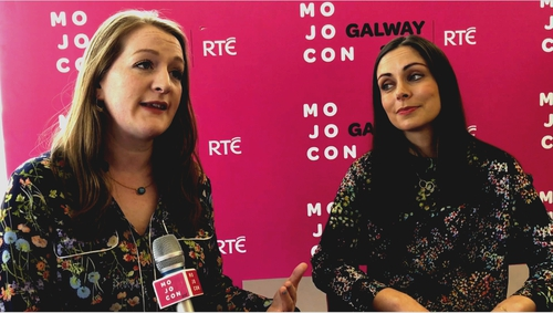 Film makers Eleanor Mannion and Jean Devlin at MoJoCon 2017