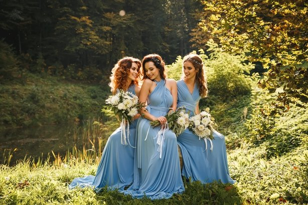 Three beautiful bridesmaids