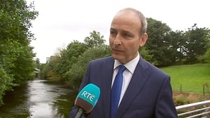 Fianna Fáil leader Michéal Martin speaking in Cork this morning