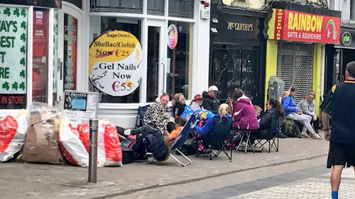 Fans hoping to secure tickets in Galway - Credit @PGaillimh