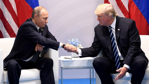 Mr Trump met the Russian President at the G20 summit in Hamburg in July