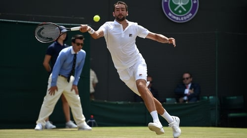 Marin Cilic stormed into the fourth round at Wimbledon