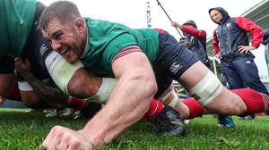 O'Brien during scrummaging practice with the British and Irish Lions