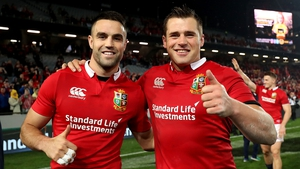 Conor Murray and CJ Stander after today's 15-15 draw with New Zealand.