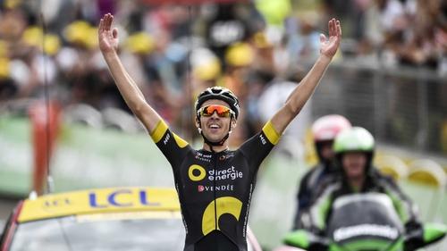 Lilian Calmejane celebrates his daring victory at Station de Rousses. 9a350077b
