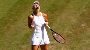 Kerber celebrates her comeback win