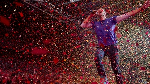 Soon to be a very rare sight: Coldplay's Chris Martin onstage in 2017