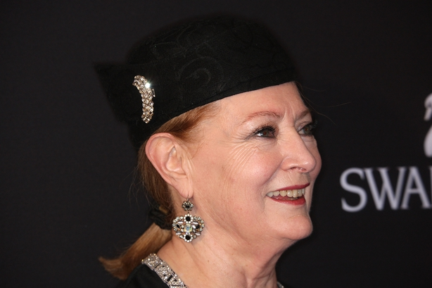 Costume Designer Joan Bergin arrives at the 11th annual Costume Designers Guild Awards held at the Four Seasons Beverly Wilshire Hotel on Februray 17, 2009