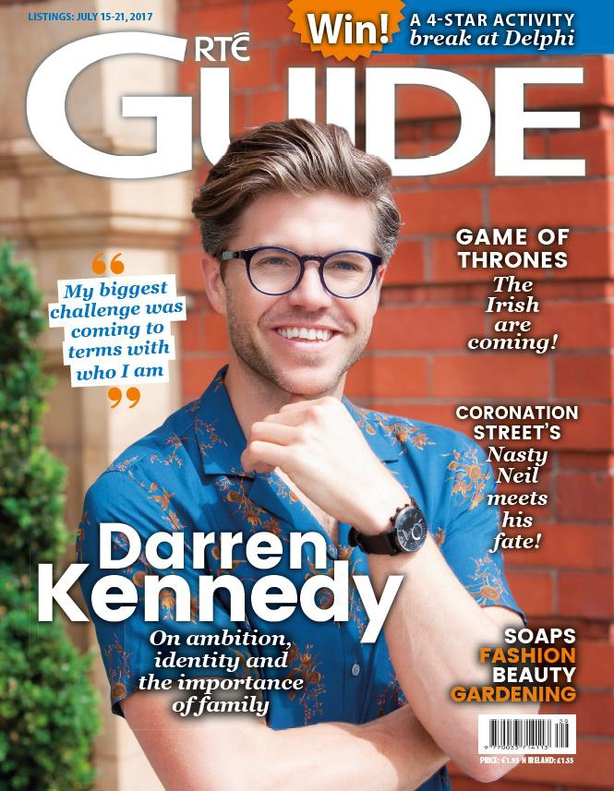 Darren Kennedy on the RTÉ Guide