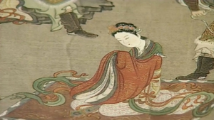 A Japanese manuscript at Dublin's Chester Beatty Library. The Ogura Hyakunin Isshu, 100 Poems by 100 poets revel in long distance love and, very probably infatuation too, along with other matters.