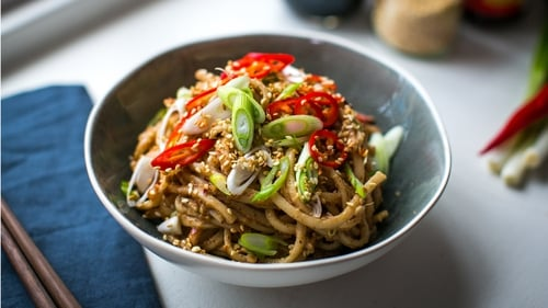 Donal's Spicy Peanut Butter Noodles in 15 mins