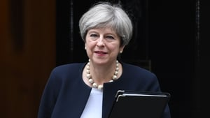 Theresa May has been commenting on peace funding in Northern Ireland