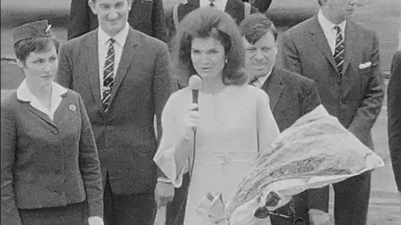 Jacqueline Kennedy At Shannon Airport.