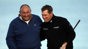 Lee Westwood and Andrew 'Chubby' Chandler in happier times