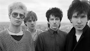 U2 pictured on the roof of the Cork Country Club Hotel, cira 1980. Picture: David Corio