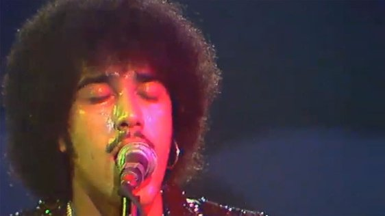 Phil Lynott at the National Stadium in Dublin in 1976