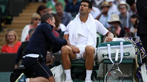 Novak Djokovic was unable to recover from an elbow injury