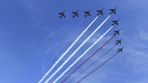 French jets perform a fly over
