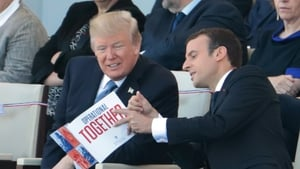 US President Donald Trump and French leader Emmanuel Macron