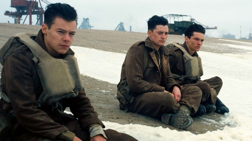 Harry Styles (left) and Fionn Whitehead (right) in Christopher Nolan's epic Dunkirk
