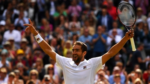 Marin Cilic celebrates his win