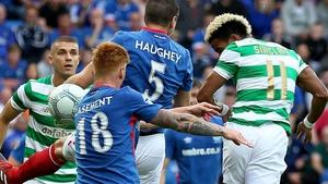 Celtic's Scott Sinclair scores the first goal
