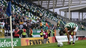 Leigh Griffiths picks up objects thrown at him at Windsor Park