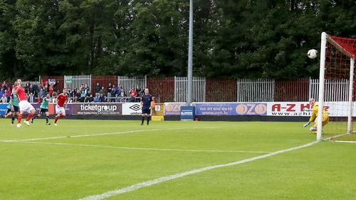 Kurtis Byrne scores a penalty