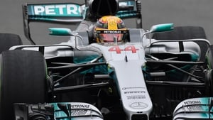 Lewis Hamilton starts the Japanese Grand Prix in pole position