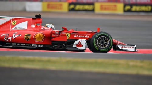 Sebastian Vettel claimed top spot late on