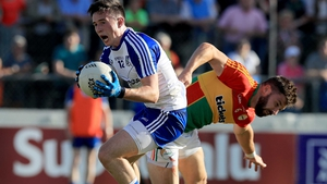 Monaghan's Shane Carey with Daniel St Ledger of Carlow