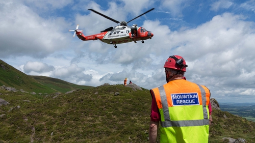A coast guard helicopter airlifted the man to hospital in Waterford (file pic)
