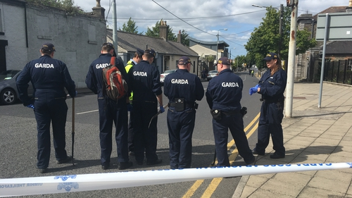 The scene in Swords was searched by gardaí today